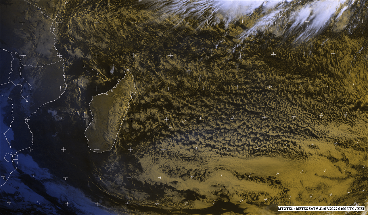 Carte Satellite météo de l'ocean Indien